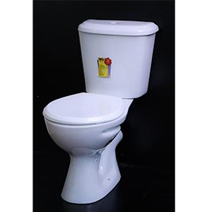 Close Couple Toilet Half White