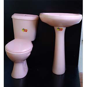 Close Couple Toilet Set Pink