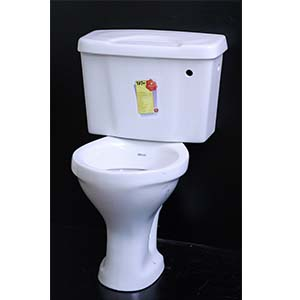 Low Level Toilet With Plastic Cistern