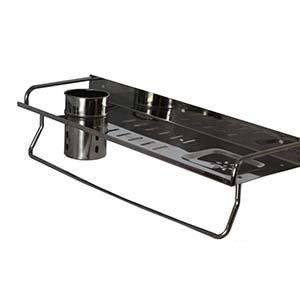 N006 Wide Rectangle Shelf +Cup+Soap Holder 50Cm