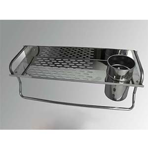 N007 Rectangle With A Cup And Towel Bar-40Cm