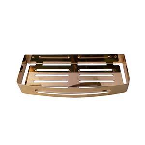 N011G Rectangle Shelf 30Cm Gold