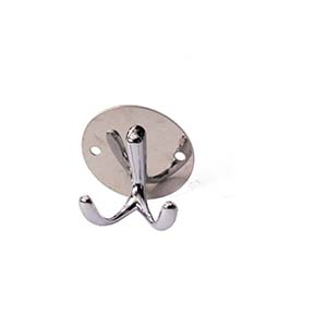 N040 Round Plate Double Hook