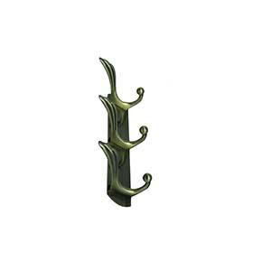 N046 3Hooks Antique Brass