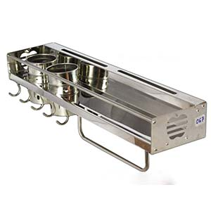 N067 Kitchen Tool Organizer With Double Cups-60Cm