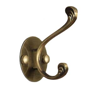 N095 Single Hook-Double Antique Copper