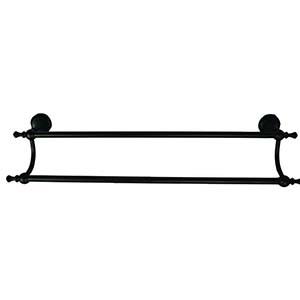 N139 High Density Double Towel Bar Black