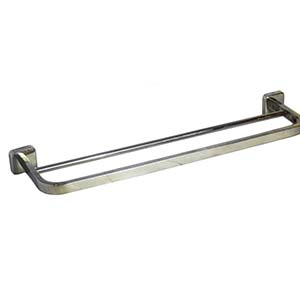 N143 Double Towel Bar With Square Base -60Cm