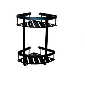 N169 High Density Double Corner Shelves-Black