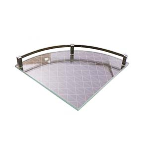 N174 Single Corner Glass Shelf