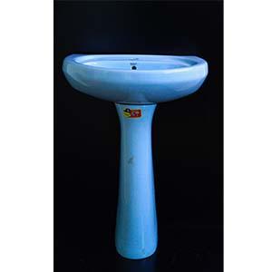 Pedestal Sink Blue
