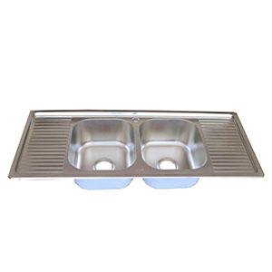 Double Bowl Double Drain Sink
