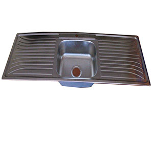 Single Bowl Double Drain Sink