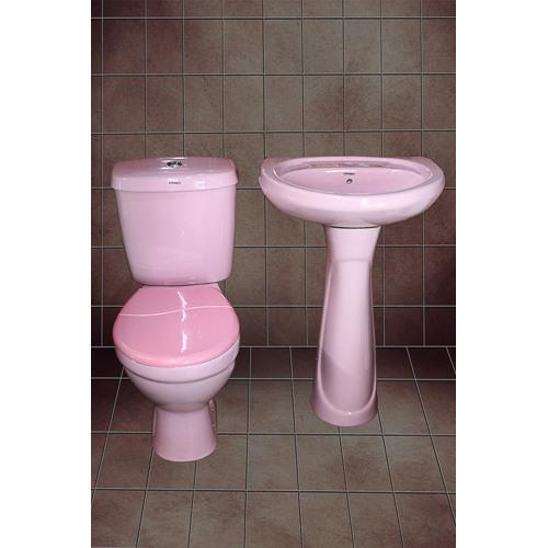 Ceramex close couple toilet(pink) 8500